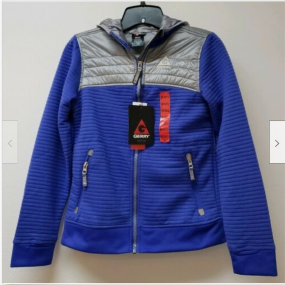 GERRY Other - Gerry Youth Kid's Full Zip Ribbed Hooded Jacket